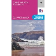 Wandelkaart 009 Landranger Cape Wrath - Durness & Scourie | Ordnance Survey