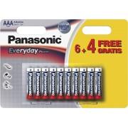 Baterie Alcalina Panasonic Everyday Power AAA (LR03) 1.5V, 10buc/blister