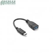 USB3.0 - Type-C OTG kábel 22cm, fekete