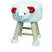 Welhouse India Sheep Animal Shaped Ottoman/Foot Stool for Kids 30x30x42CMS- White