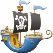 Stickers Muraux Stickers effet 3D- Bateau pirate 2