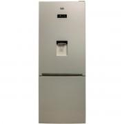 Combina frigorifica Beko RCNE520E20DZM, Neo Frost, 450 l, A+, Display, Compartiment 0°C, EverFresh+, L 70 cm, H 192 cm, Bej Marble - Gri sidefat