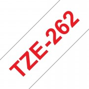 Tape 36mm TZe-262 Röd på Vit