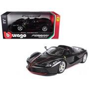 Ferrari LaFerrari F70 Aperta Black 1/24 Diecast Model Car by Bburago