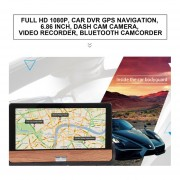 Eh HD 1080p Coche DVR GPS De Navegación 6.86 Pulgadas De Camara De Camara Camara Camara
