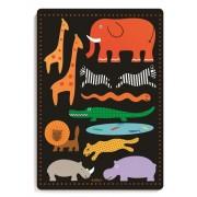 Drewniane puzzle przestrzenne zwierzęta z dżungli 18 miesięcy, układanka dla dziecka DJECO DJ01027
