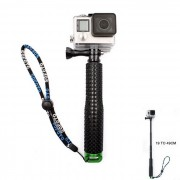Camara en mano Monopod c/ adaptador de tripode para GoPro Hero - Negro + Verde