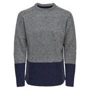 ONLY&SONS Men pulovere Bole Naps Knit Medium Grey Melange S