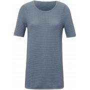 Peter Hahn Dames Trui met ronde hals en korte mouwen Van Peter Hahn blauw