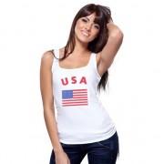Shoppartners Tanktop met Amerikaanse vlag print voor dames
