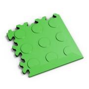 Zelený vinylový plastový rohový nájezd 2046 (penízky), Fortelock - délka 14 cm, šířka 14 cm a výška 0,7 cm