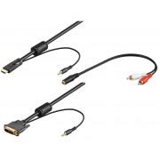 Cavo da HDMI a DVI con Audio 2m + Adattatore jack/RCA