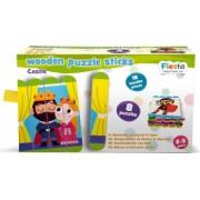 Set puzzle-uri din betisoare lemn - Castel Fiesta Crafts FCT-2934