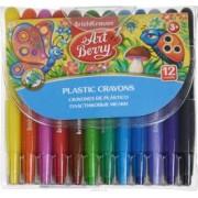 Set creioane colorate cerate retractabile ErichKrause 12 culori