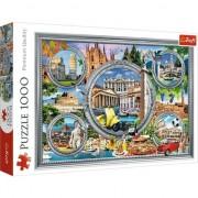 Puzzle Trefl, City break in Italia, 1000 piese