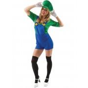 Vegaoo.es Disfraz fontanero short verde mujer - XL