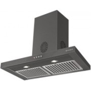 Faber Hood STILO SLIM 3D PLUS T2S2 BK LTW 60 Wall Mounted Chimney(Black 1095 CMH)
