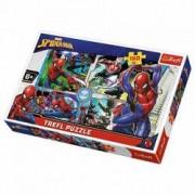 Jucarie Puzzle 160 pcs Spiderman Salvatorul 15357 Trefl