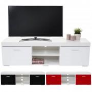 TV-Rack Portland, Fernsehtisch Lowboard, Hochglanz 140x40x40cm ~ Variantenangebot
