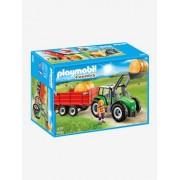 6130 Grosser Traktor mit Anhänger Playmobil mehrfarbig