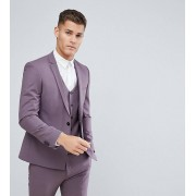 Noak - Kostymjacka med rak nederkant och extra smal passform - Lila