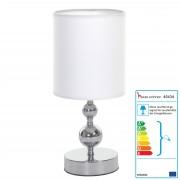 Tischlampe HW157, Tischleuchte Nachttischlampe, 34cm ~ Variantenangebot