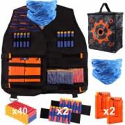 Vesta compatibila cu Nerf N-Strike Serie Elite Tactical Vest kit 47 piese Accesorii pentru Nerf N-Strike