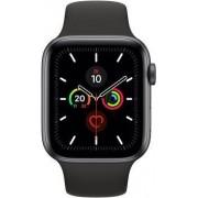 Apple Wie neu: Apple Watch Series 5 44 mm Aluminium GPS + Cellular spacegrau Sportarmband schwarz