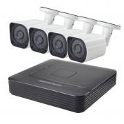 COTIER A4B6 4 kanaals 720P 1.0 megapixel Bullet IP-Camera NVR Kit de visie van de nacht van de steun / bewegings-detectie IR afstand: 15m