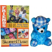 gifts for friend - Blue Teddy Bear With Hat,Great Friends Greeting Card