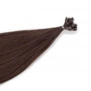 Rapunzel® Hair extensions Bondings Original Glatt 2.6 Dark Ash Brown 50 cm