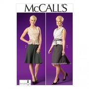 McCall's Patterns M7017 Patrones de Costura para Camisetas de Mujer (A5, 6-8-10-12-14)