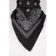 Boerenzakdoek / bandana in zwart