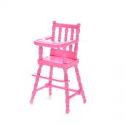 Supershopping 3 Pcs Barbie Baby Plastic High Feeding Chairs Dollhouse Furniture