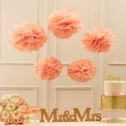 Pompoane colorate pentru petreceri şi aniversări (set de 5)
