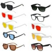 INSH Wayfarer, Rectangular Sunglasses(Red, Black, Yellow, Clear, Brown, Blue)