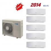 Daikin Climatizzatore Penta Emura 5mxs90e + 5 X Ftxg25lw-W Wi-Fi 9+9+9+9+9
