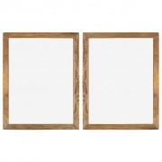 vidaXL Rame foto, 2 buc., 90 x 70 cm, lemn masiv reciclat și sticlă