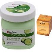 BIOCARE Cucumber Cool Rejuvenating Moisturing Cream 500 ML Pink Root Golden Bleach Pack of 2