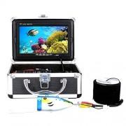 """GEOPONICS 20m 7"""" Pulgadas 1000tvl FishingCamera Kit Buscador de los Pescados bajo el Agua 12 PCSInfrared lámpara LightsLake bajo el Agua Peces Color CAM"""