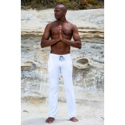 Sauvage Athletic Low Rise Workout Pants White M027