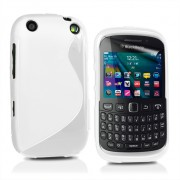 BlackBerry Curve 9320 Силиконов Калъф Бял + Протектор