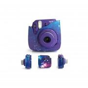 [Fujifilm Instax Mini 8 Camera Case ]-Woodmin Exclusive Galaxy PU Leather Protective Fuji Camera Bag With Shoulder Strap For Instant Mini 8 Camera