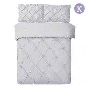 King 3-piece Quilt Cover Set Grey