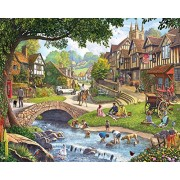 White Mountain Puzzles Summer Village Jigsaw Puzzle (1000 Piece)