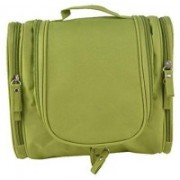 Everbuy Multifunctional Travel Bag Extra Large Makeup Organiser Cosmetic Case Household Grooming Kit Storage Travel Kit Pack with Hook Travel Toiletry Kit(Green)