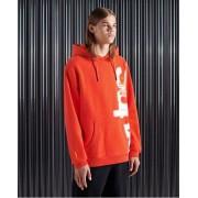 Superdry Super 5 Deconstruct Hoodie L orange