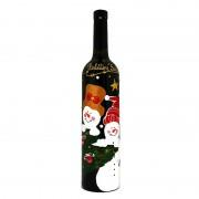 Sticla de vin pentru Craciun Snowman in Love