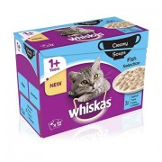 Whiskas Creamy Soup Fish Selection 1+ Years 12x85g