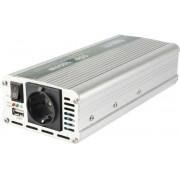 Feszültségátalakító, 1000/2000W, USB aljzat SAI 2000USB